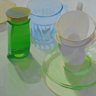 Karen O'Neil - Kitchen Still Life Series #16, Glass and Green