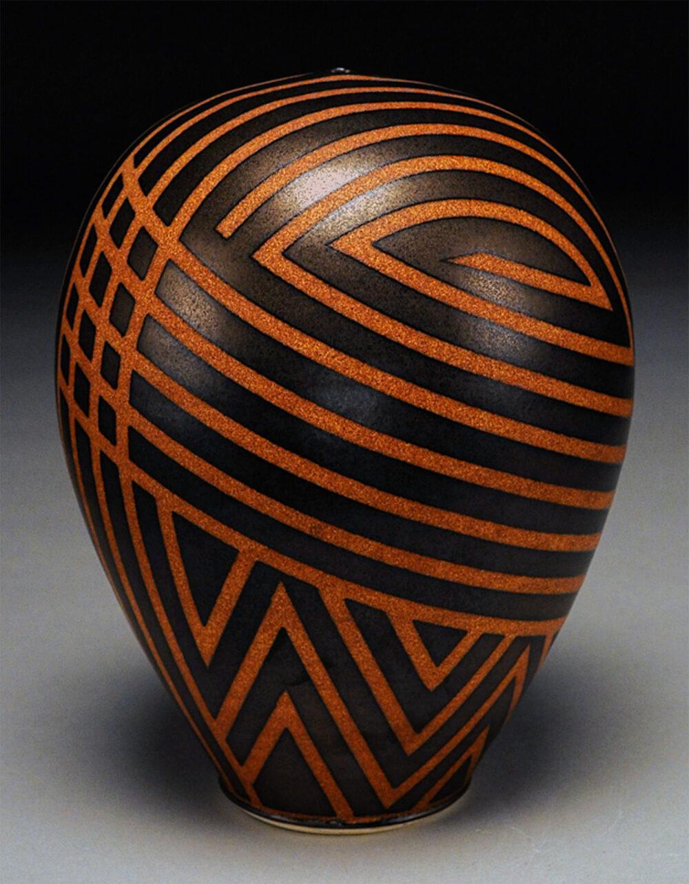 Nicholas Bernard - Golden Striped Bottle