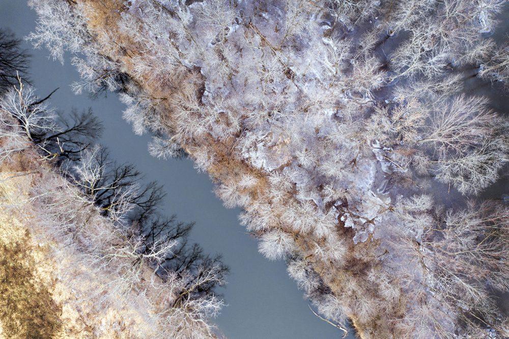 Caleb Kenna - Otter Creek in Winter, Brandon, Vermont