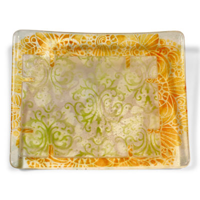 Rochelle Zabarkes - Square Curled Edged Plate