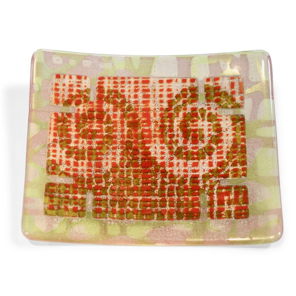 Rochelle Zabarkes - Square Curled Edge Plate Orange