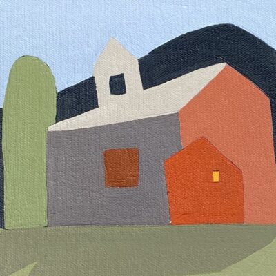 Sage Tucker-Ketchum - Barn in Three Parts with Mountain