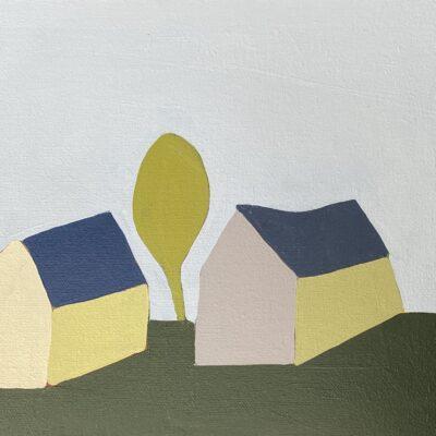 Sage Tucker-Ketchum - Two Houses, Three Shrubs, Trees