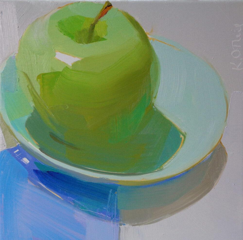 Karen O'Neil - Green Blue Apple