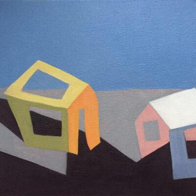 Sage Tucker Ketchum - Two Barns with Two Walls
