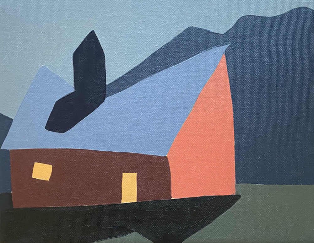 Sage Tucker-Ketcham - Barn with One Window, Side Door and Peak