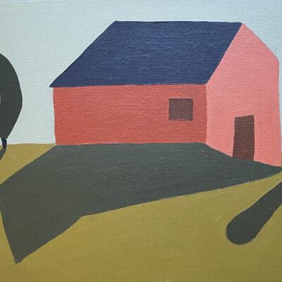 Sage Tucker-Ketcham - Big Red Barn with Three Trees