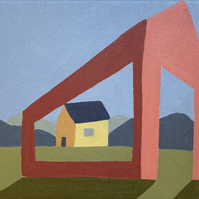 Sage Tucker-Ketcham - Open Barn with View of Yellow House