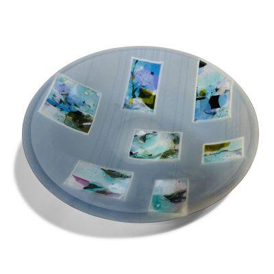 Rochelle Zabarkes - Gray Strip Bowl