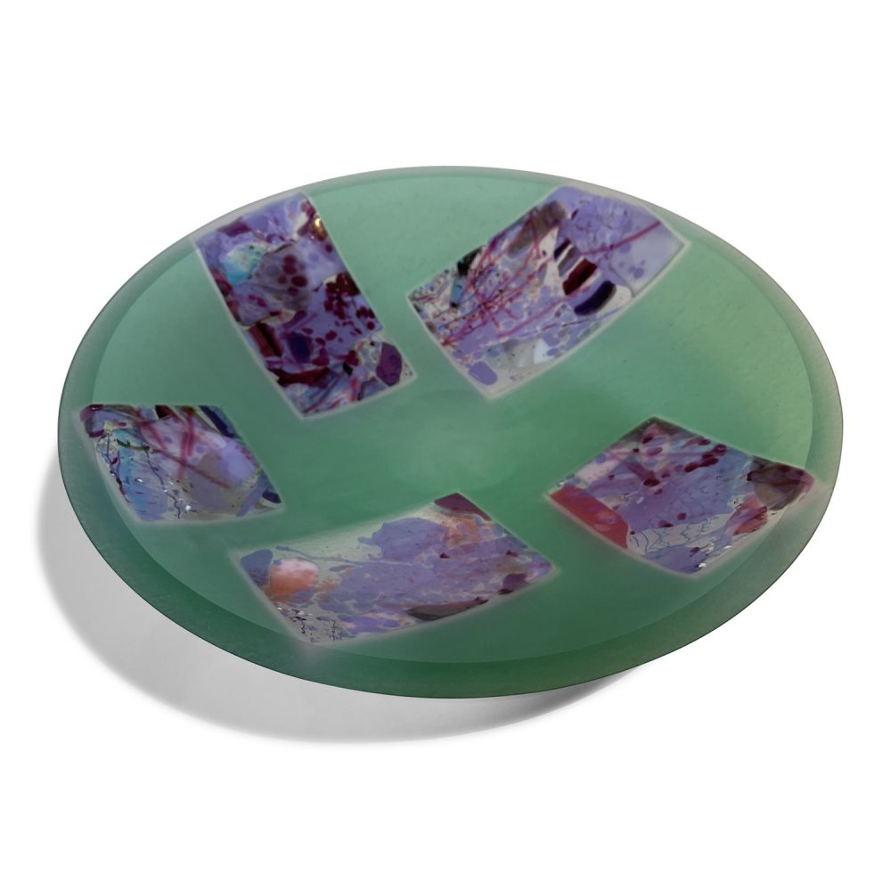 Rochelle Zabarkes - Green Strip Bowl