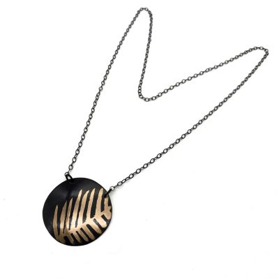 Anna Caraco - Black Fern Copper Necklace
