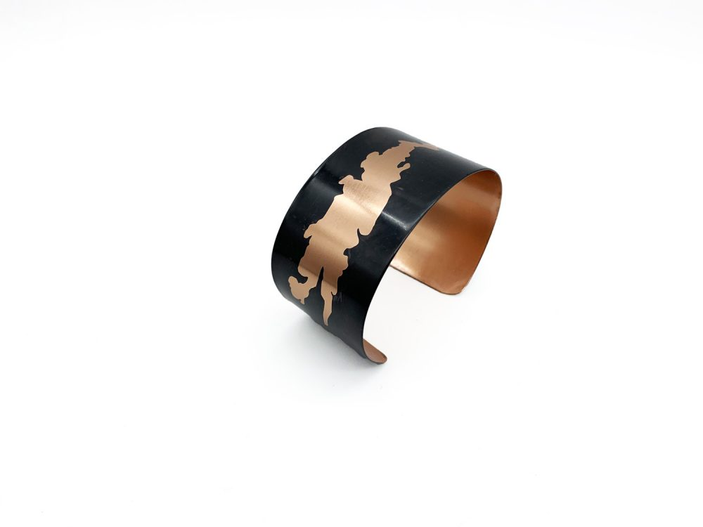 Anna Caraco - Lake Champlain Noir Copper Bracelet
