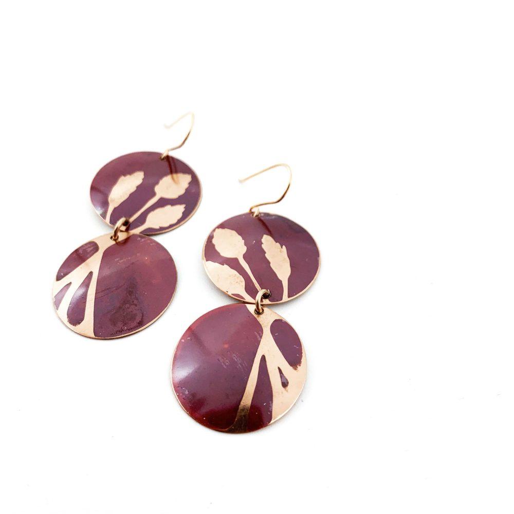 Anna Caraco - Pampass Grass Copper Earrings