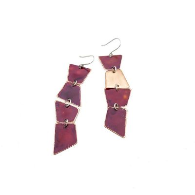 Anna Caraco - Warped Stack Copper Earrings
