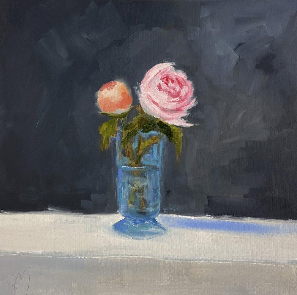 Jill Matthews - Blue Glass and Roses