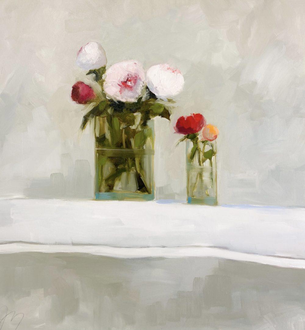 Jill Matthews - Peony Bunch and Bud Vase