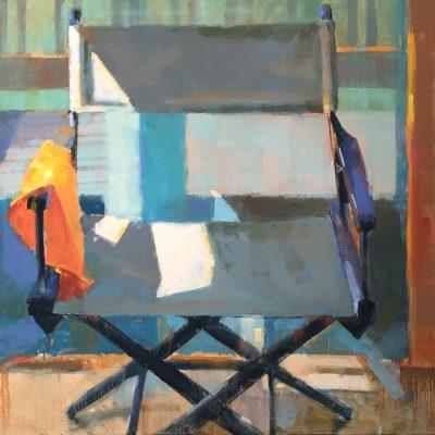 Kim Alemian - Director's Chair with Orange Cloth