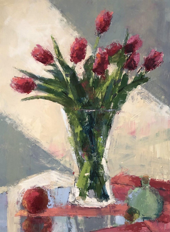 Kim Alemian - Light Shaft - Pink Tulips