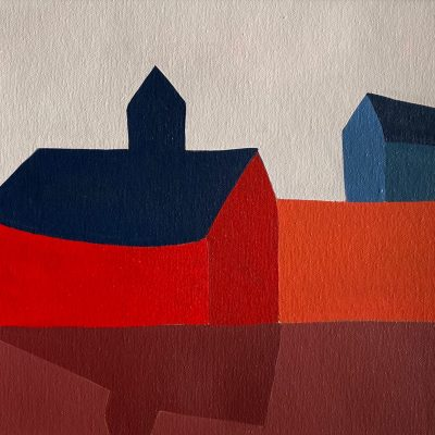 Sage Tucker-Ketcham - Red Barn with Blue House