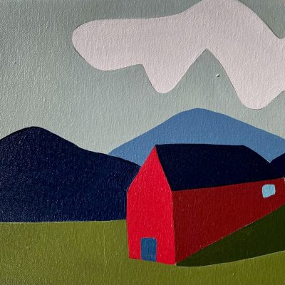 Sage Tucker-Ketcham - Three Mountains, Two Clouds and Barn